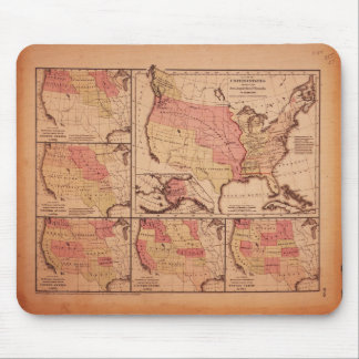 Historic Map of United States Expansion 1787-1865 Mouse Pad
