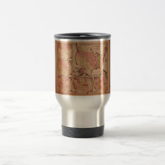 Historic Map of United States Expansion 1787-1865 15 Oz Stainless Steel Travel Mug