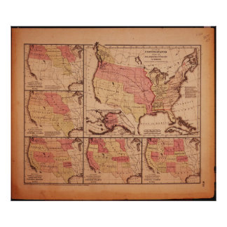 Historic Map of United States Expansion 1787-1865 Print