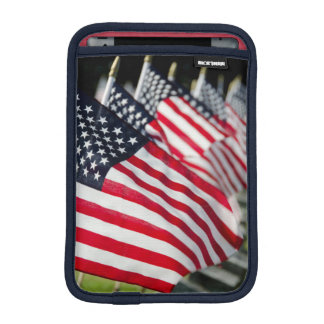 Historic military cemetery with US flags iPad Mini Sleeves