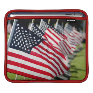 Historic military cemetery with US flags iPad Sleeves