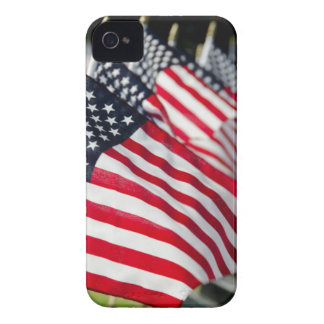 Historic military cemetery with US flags iPhone 4 Case