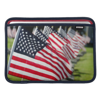 Historic military cemetery with US flags MacBook Air Sleeve