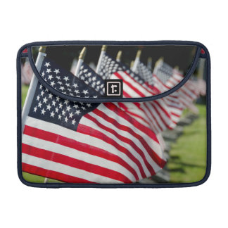 Historic military cemetery with US flags Sleeve For MacBooks
