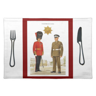 Historic military Uniforms, Coldstream Guards Cloth Placemat
