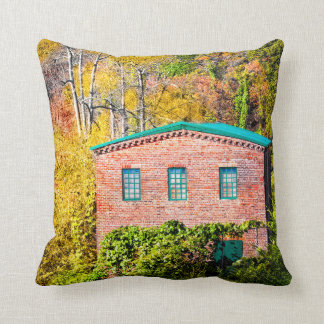 Historic Mill in Roswell Georgia Throw Pillow