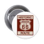Historic Missouri Rt 66 2 Inch Round Button