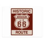 Historic Missouri Rt 66 Post Card