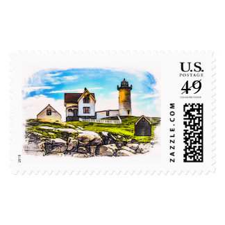 Historic Nubble Lighthouse Postage