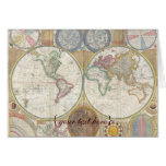 Historic Old World Map, 1794 - blank Greeting Card
