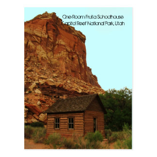 Historic One-Room Fruita Schoolhouse Post Card