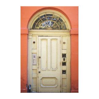 Historic Orange Doorway Canvas Print