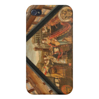 Historic painting wooden bridge Lucerne iPhone 4/4S Covers