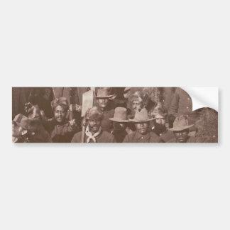Historic photograph Buffalo Soldiers 25th Regiment Car Bumper Sticker