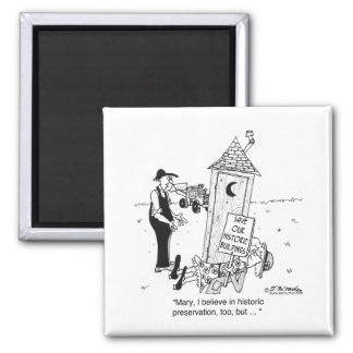 Historic Preservation of Outhouses? 2 Inch Square Magnet