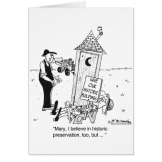 Historic Preservation of Outhouses? Card