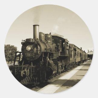Historic Railroad Classic Round Sticker