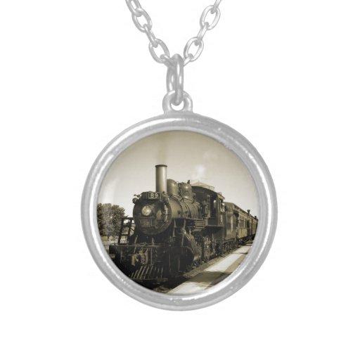 Historic Railroad Round Pendant Necklace