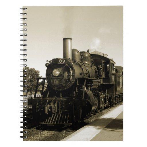 Historic Railroad Spiral Notebooks
