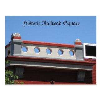 Historic Railroad Sq. Postcard