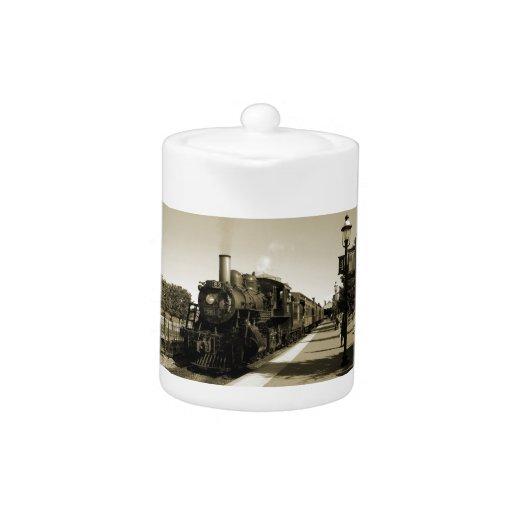 Historic Railroad Teapot