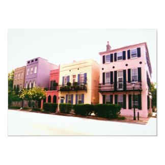 Historic Rainbow Row Charleston South Carolina 5x7 Paper Invitation Card