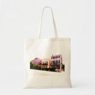 Historic Rainbow Row Charleston South Carolina Budget Tote Bag