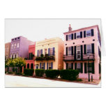 Historic Rainbow Row Charleston South Carolina Greeting Card