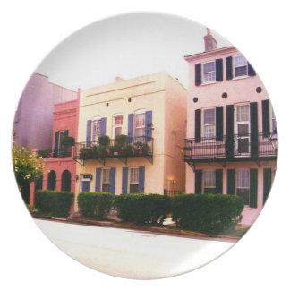 Historic Rainbow Row Charleston South Carolina Dinner Plates