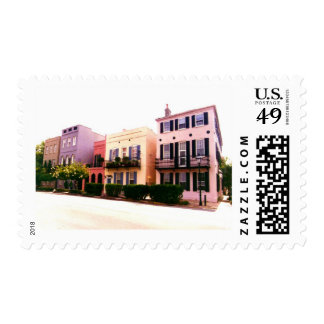 Historic Rainbow Row Charleston South Carolina Postage Stamps