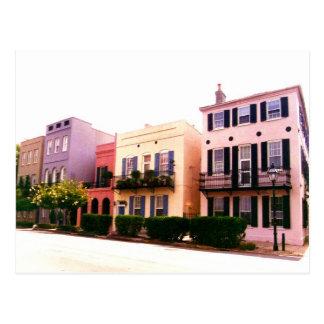 Historic Rainbow Row Charleston South Carolina Postcard