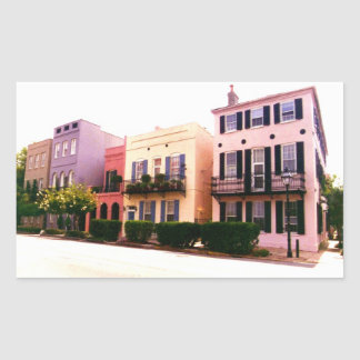 Historic Rainbow Row Charleston South Carolina Rectangular Sticker