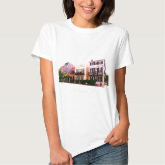 Historic Rainbow Row Charleston South Carolina Tshirt