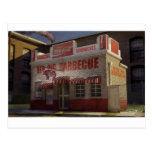 Historic Red Pig BBQ in Concord NC Postcard
