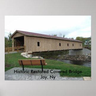 Historic Restored Covered Bridge Poster