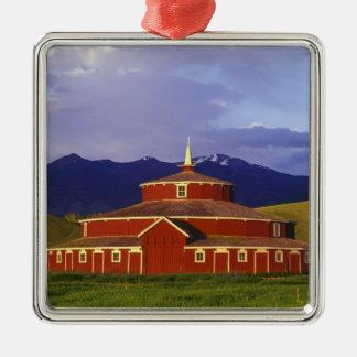 Historic Round Barn at Twin Bridges Montana Metal Ornament