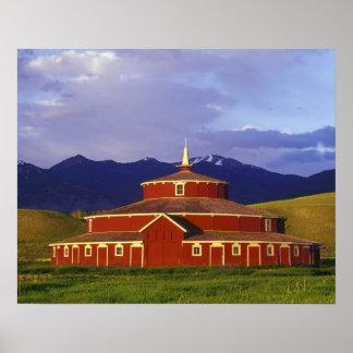 Historic Round Barn at Twin Bridges Montana Print