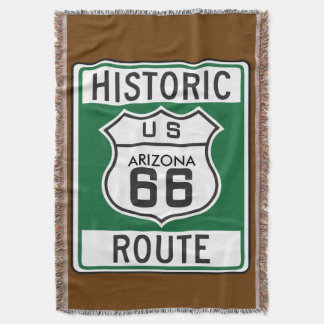 Historic Route 66 Arizona Road Sign Throw