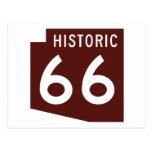 Historic Route 66 - Arizona State Map Postcard