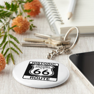 Historic Route 66 - California Keychain