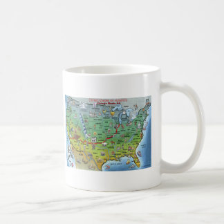 Historic Route 66 Cartoon Map Coffee Mug
