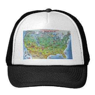 Historic Route 66 Cartoon Map Mesh Hat