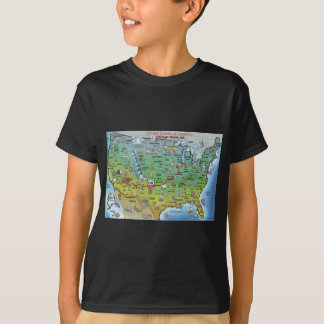 Historic Route 66 Cartoon Map T-Shirt