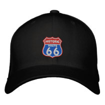 Historic Route 66 Embroidered Baseball Cap
