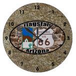 Historic Route 66 ~ Flagstaff, Arizona Wall Clock