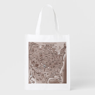 Historic Route 66 Grocery Bag