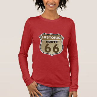 Historic Route 66  Highway Sign Long Sleeve T-Shirt
