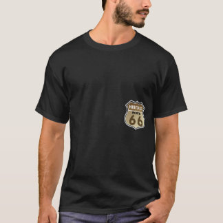 Historic Route 66  Highway Sign Pocket Print T-Shirt