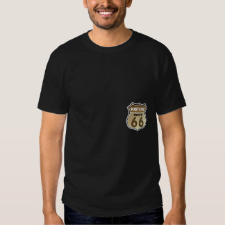 Historic Route 66  Highway Sign Pocket Print Tee Shirt