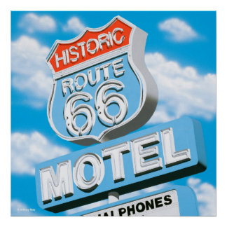 Historic Route 66 Motel Poster